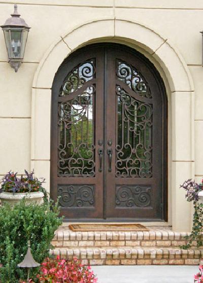 металеві ковані двері